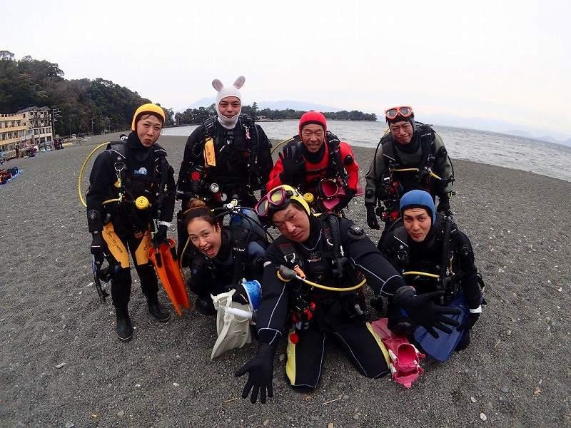 昨日は大瀬崎。潜り初めのツアーです(^^)/