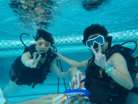 2011年8月30日(火) 体験ダイビング in ゴールドジム柏千葉